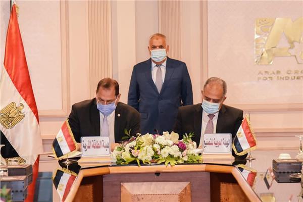 جانب من توقيع بروتوكول العربية للتصنيع والطاقة الذرية