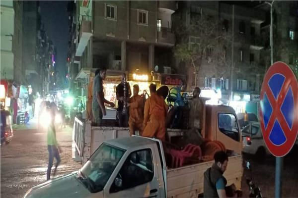 مصادرة 25 شيشة وغلق 5 مقاهي بدار السلام