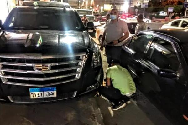 حي الدقي يكلبش سيارة الفنان محمد رمضان