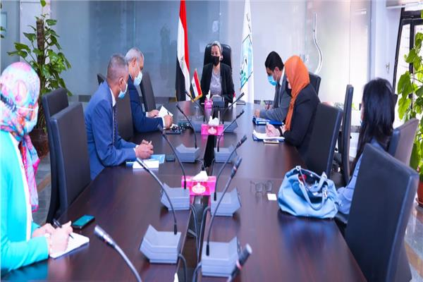 وزيرة البيئة تلتقى ممثلى منظمة الفاو لبحث أوجه التعاون بينهم