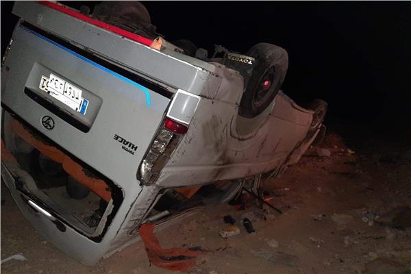 حادث الطريق الصحراوي قنا- سوهاج