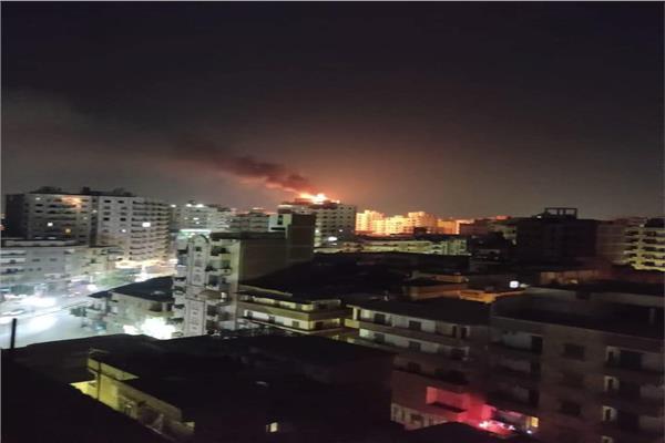 حريق في اعلي برج سكني بجوار فندق بانوراما بطنطا