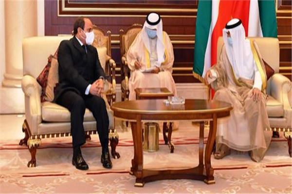 الرئيس السيسي وأمير الكويت - أرشيفية
