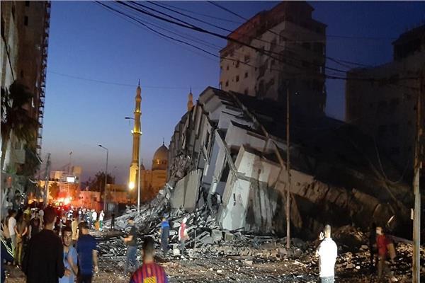 هدم منازل جراء القصف الإسرائيلي