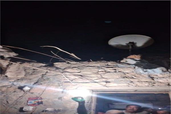 انهيار سقف منزل بسوهاج