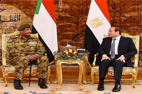 الرئيس السيسي مع الفريق أول عبد الفاتح البرهان