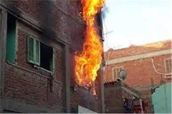 حريق عقار سكني
