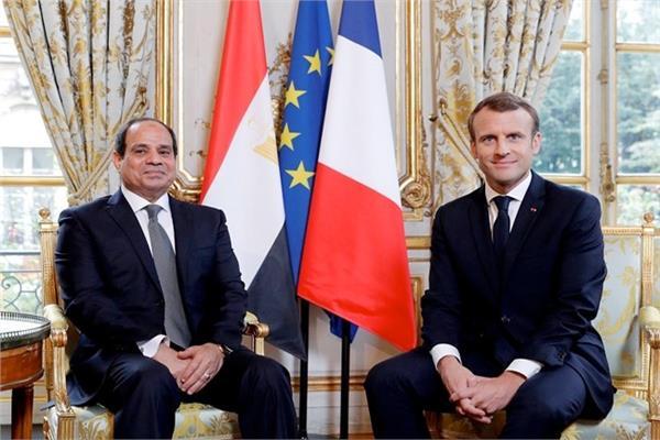 الرئس السيسي والرئيس الفرنسي