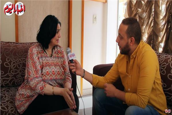 مريم سعيد مع محرر بوابة أخبار اليوم
