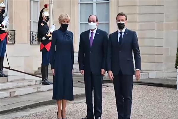 الرئيس الفرنسي يستقبل الرئيس السيسي