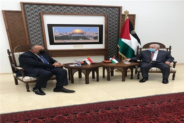 سامح شكرى والرئيس الفلسطيني