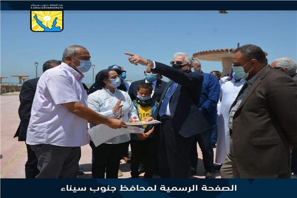 محافظ جنوب سيناء يتفقد عددا من المشروعات التنموية في رأس سدر