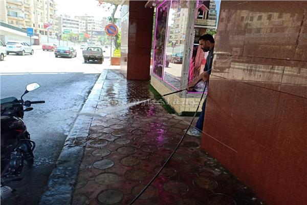 حملة نظافة وتطهير بالدقي في الجيزة