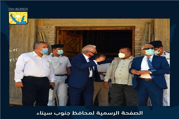 اللواء خالد فودة بعد ظهر اليوم بجولة بمدينة طور سيناء