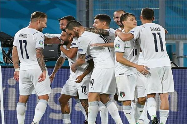 فرحة لاعبي منتخب إيطاليا
