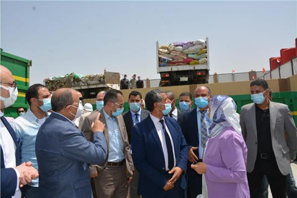تشغيل المحطة الوسيطة بمركز ناصر في بني سويف