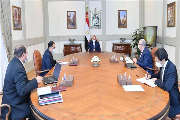 الرئيس عبدالفتاح السيسي خلال الاجتماع