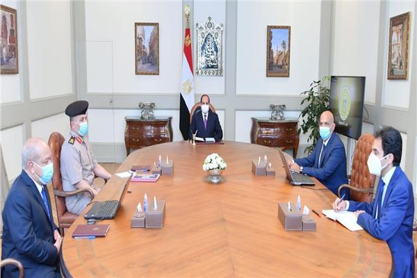 الرئيس السيسي خلال الاجتماع