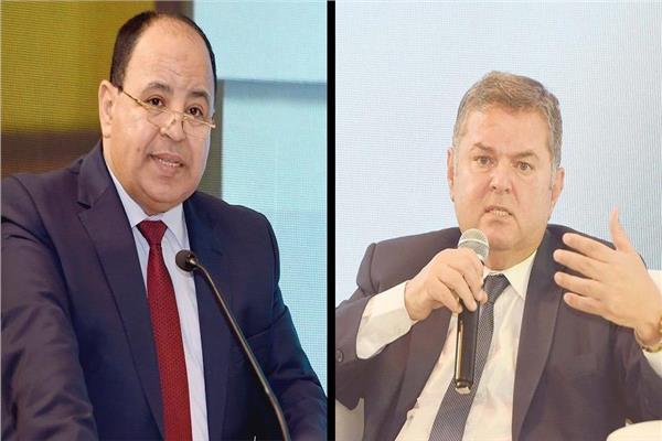 لدكتور محمد معيط وزير المالية وهشام توفيق وزير قطاع الاعمال العام