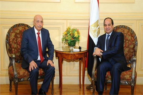الرئيس عبد الفتاح والمستشار عقيلة صالح