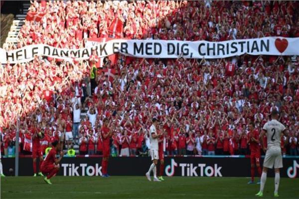 لفتة طيبة لدعم إريكسن في لقاء بلجيكا والدنمارك
