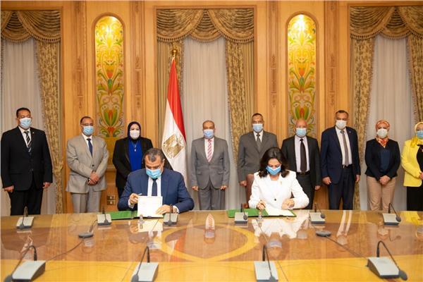 """توقيع بروتوكول تعاون بين """" الإنتاج الحربى """" و """" المجلس القومى للمرآة"""