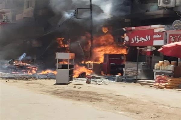 حريق مطعم أبو قرقاص