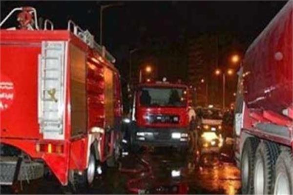 حريق داخل شركة بمنطقة المعصرة