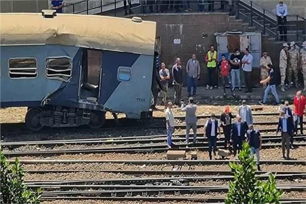 القطار المتضرر