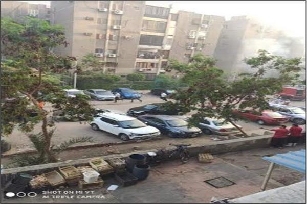 حريق هائل بعقار في مدينة نصر