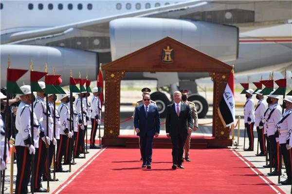 الرئيس السيسي يعود إلى أرض الوطن قادمًا من العراق