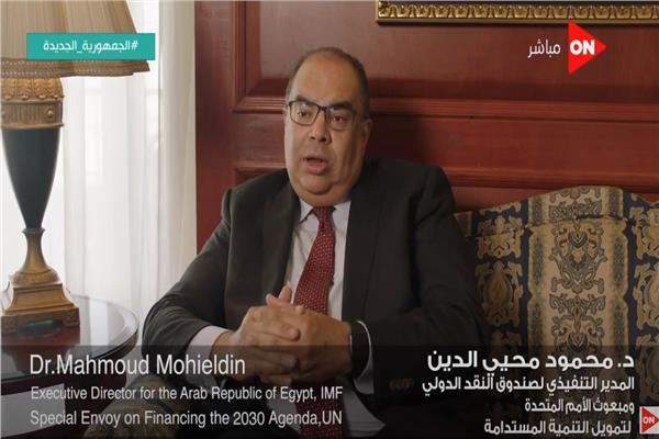 الدكتور محمود محي الدين ، المدير التنفيذي لصندوق النقد الدولي