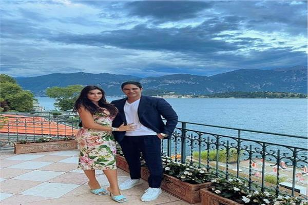 الفنانة ياسمين صبري وزوجها رجل الأعمال احمد أبو هشيمة