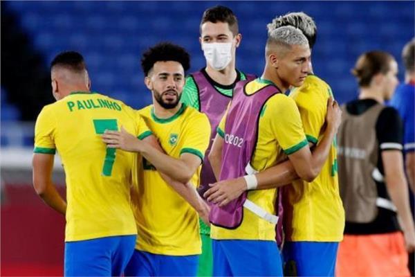 فرحة لاعبي المنتخب البرازيلي الأولمبي