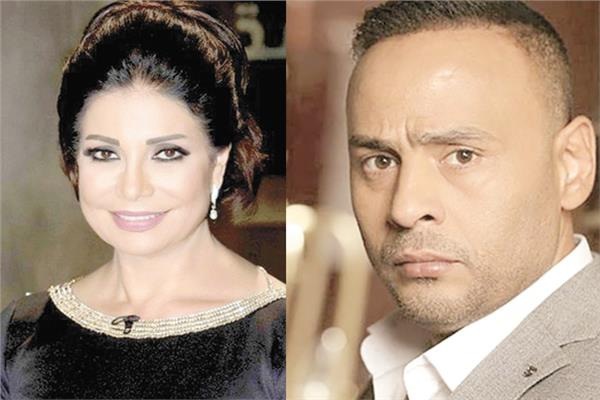محمود عبدالمغنى و سوسن بدر
