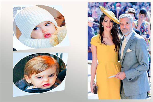 الزوجان جورج كلونى  - إيلا - أليكساندر