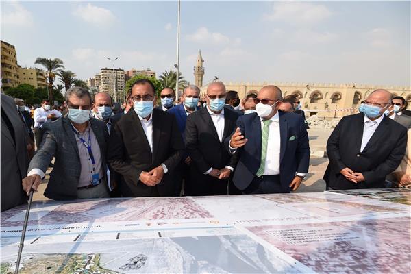 الدكتور مصطفى مدبولي من موقع تطوير ساحة مسجد عمرو بن العاص