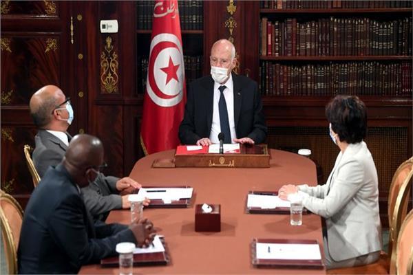 لقاء الرئيس قيس سعيد مع رؤساء المجالس القضائية المختلفة