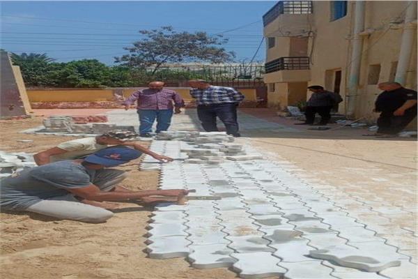 انشاء المدرسة الثانوية بعرب الرمل في قويسنا