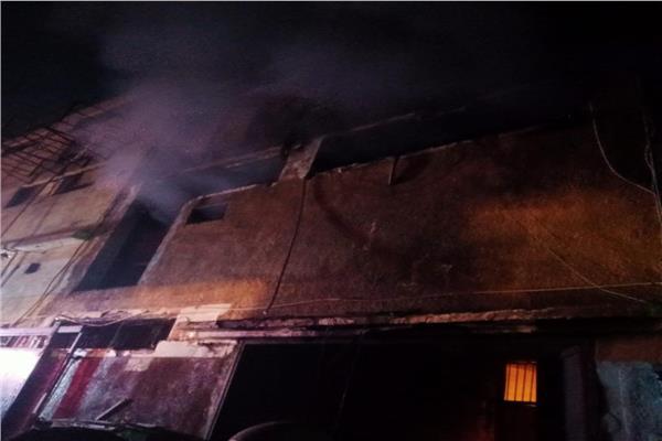حريق مصنع شبرا بالقليوبية