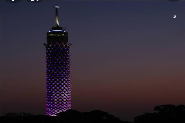 برج القاهرة يضئ لا للاتجار بالبشر