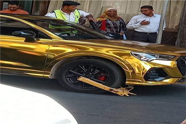 مرور الاسكندرية يتحفظ على سيارة حمو بيكا