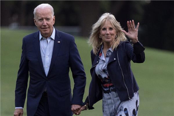 جيل بايدن و زوجها الرئيس الامريكي جو بايدن