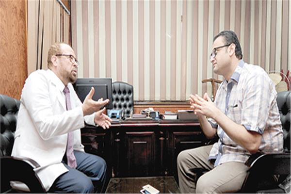 د. جودة محمد عواد خلال حواره مع «الأخبار»