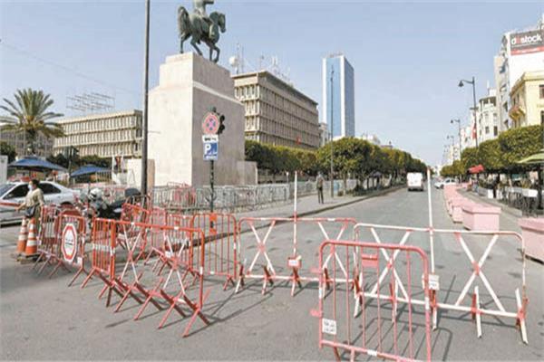 إغلاق شارع الحبيب بورقيبة فى تونس