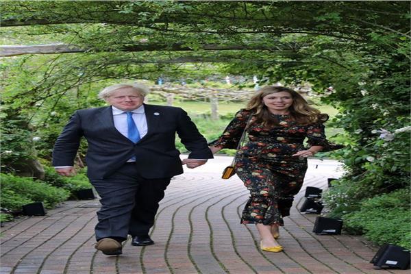 بوريس جونسون وزوجته