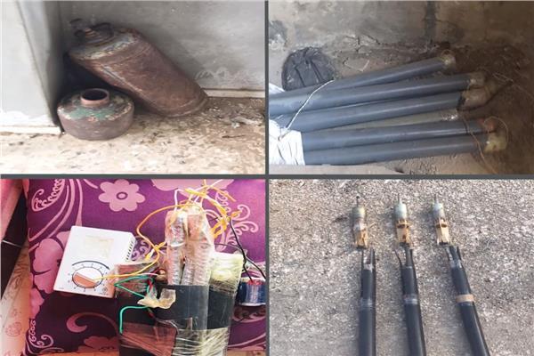 القوات المسلحة تنشر صور مقتل تكفيريين وعبوات ناسفة في شمال سيناء