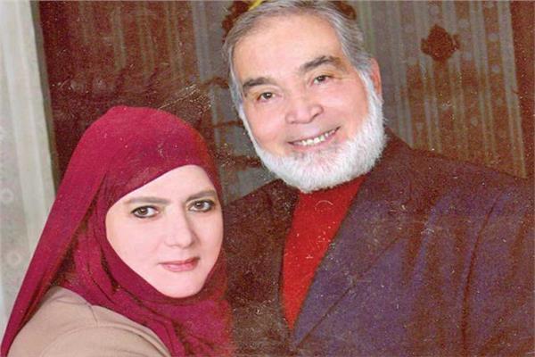 الفنان الكبير حسن يوسف وزوجته شمس البارودي