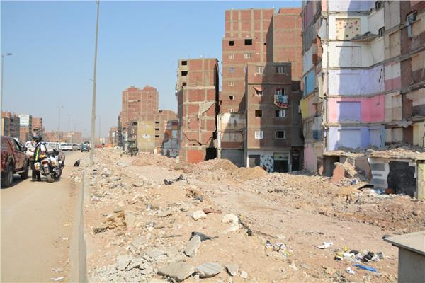 أعمال إزالة المباني المتعارضة مع توسعة الطريق الدائري