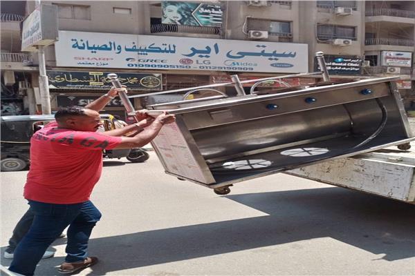 «حي الطالبية» يشن حملة إشغالات على القطاع الشمالي| صور
